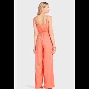 Evereve Pants - Hollie Woodward x Evereve JOA Coral Jumpsuit L